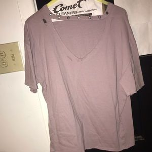 Socialite distressed top